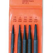 GROZ CP/5/ST - Centre Punch Set 5pcs; 1/6in to 5/32in