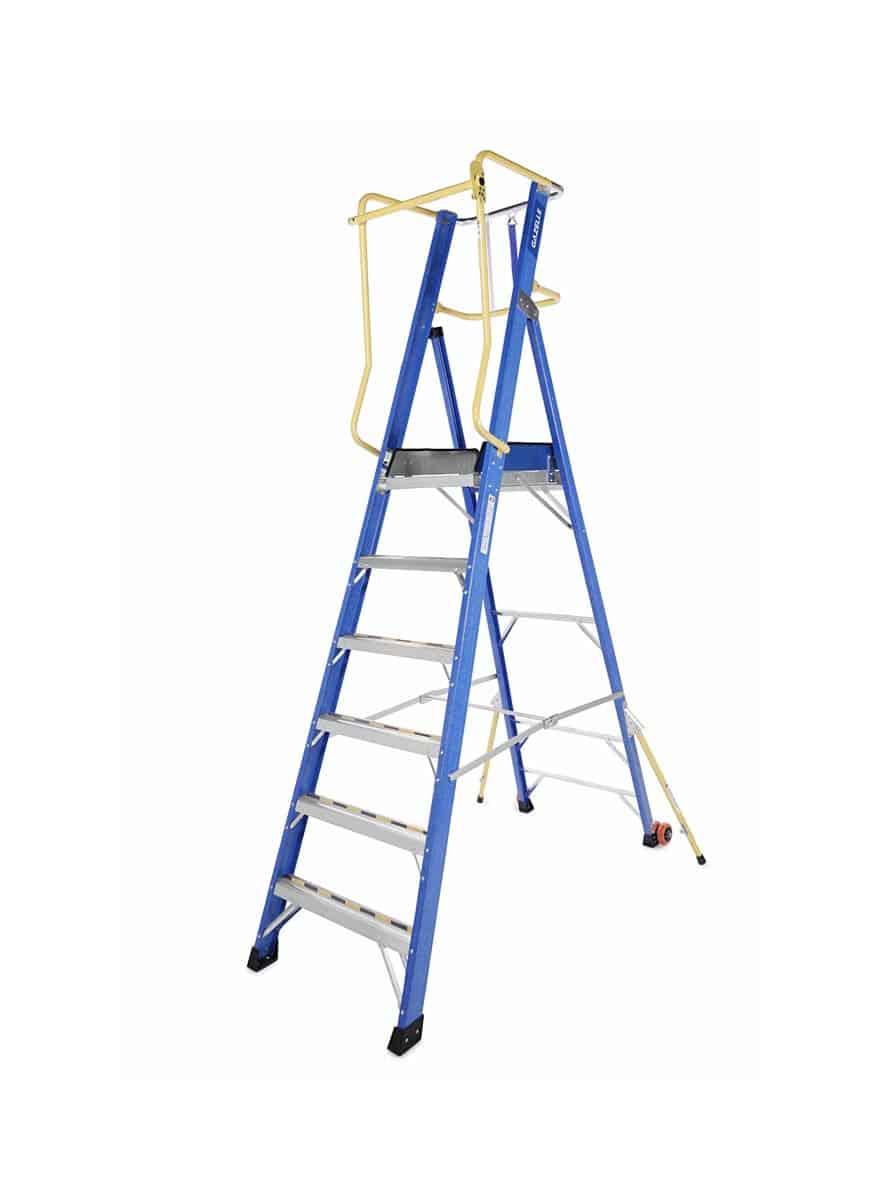 Fiberglass Platform Ladders
