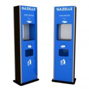 GAZELLE G9608  - Rectangular Shaped Floor Stand Hand Sanitizer with Contactless Dispenser, Tissue holder and Trash bin