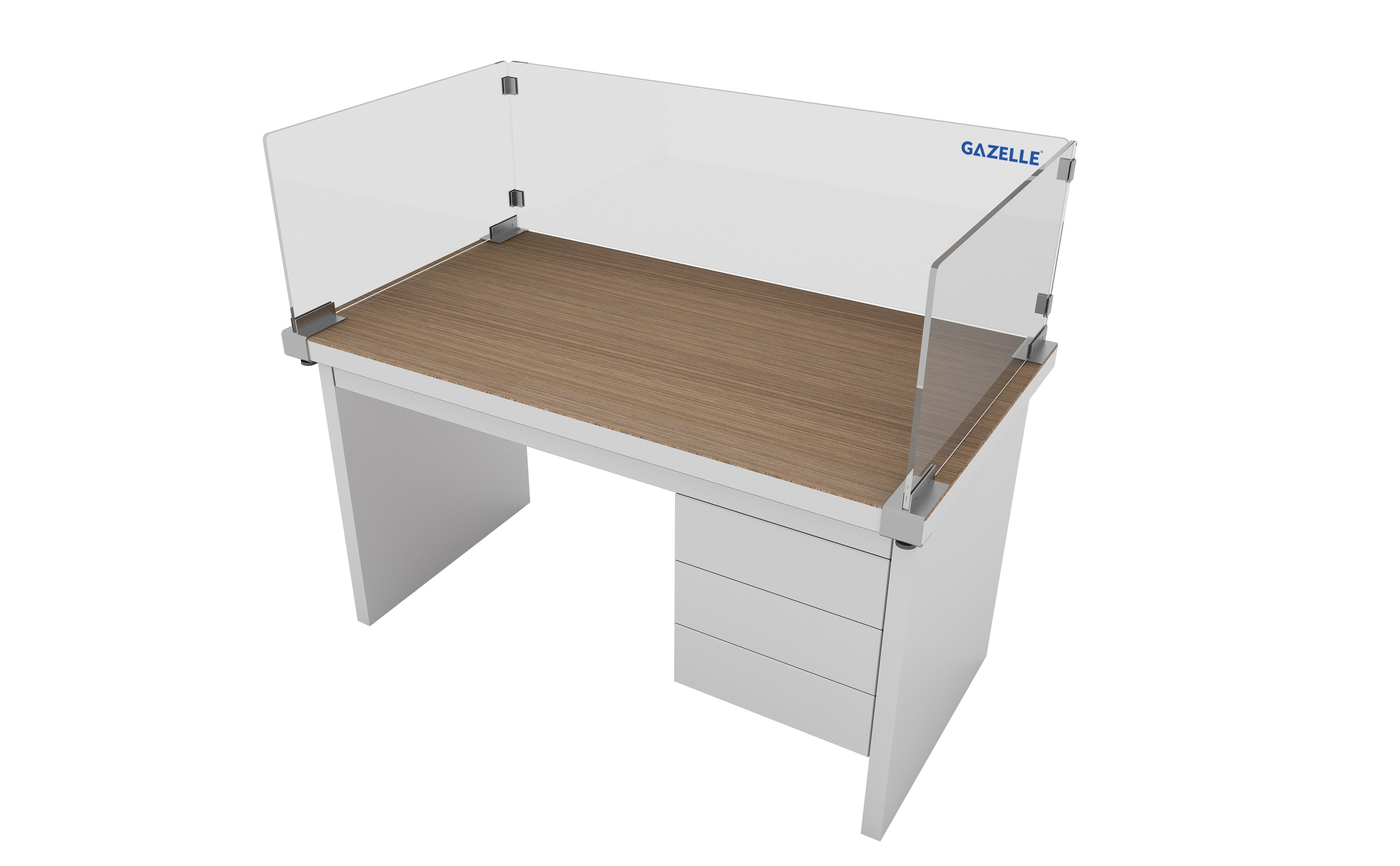 Gazelle_G9613 - 3Sided Enclosure Desk Partition