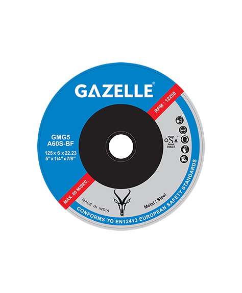 GAZELLE GMG5 - Metal Grinding Discs 5in – 125 x 6 x 22mm