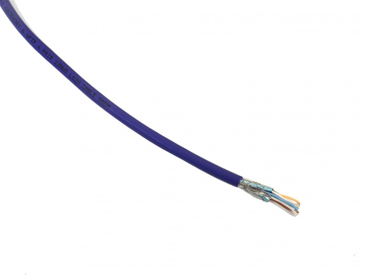 INFILINK_IP-CSF6_Cable Pur - Infilink-Cable CAT-6,SFTP, High Performance,   Solid, 23 AWG LSZH (Purple)  (305 Mtr/Reel)
