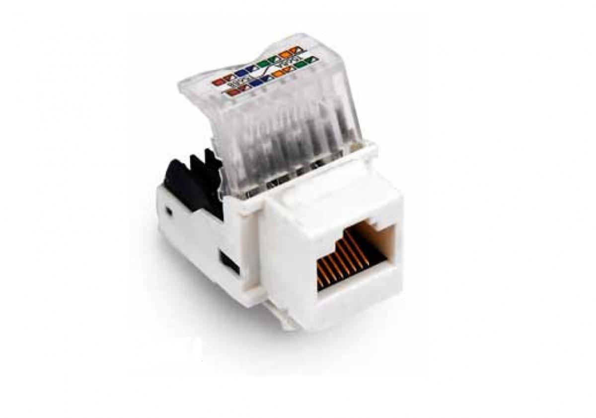 INFILINK IP-KS6-W1 - Infilink-Keystone Jack CAT-6, Unshielded, 8p8C, Tool Less, T568B