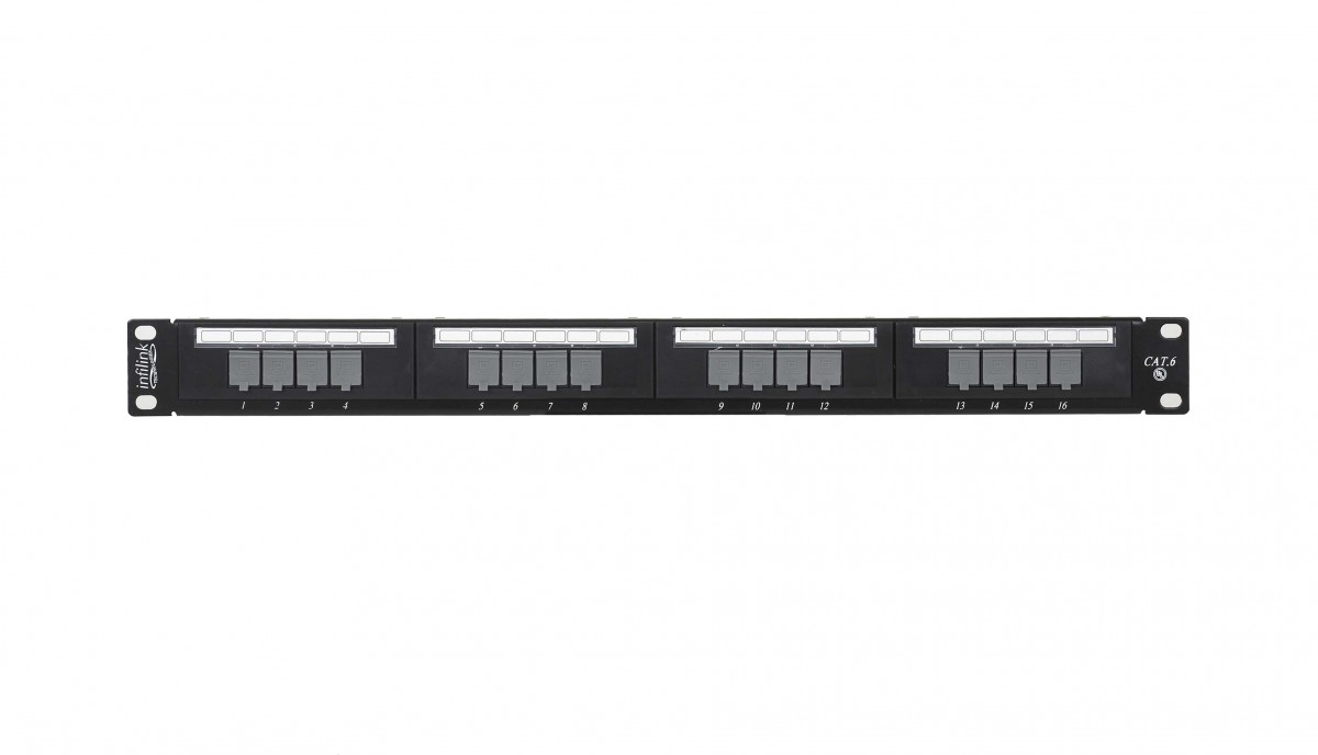 INFILINK IP-PP616 - Infilink- Patch Panel 16 port CAT-6 UTP RJ-45