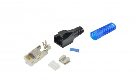 INFILINK IP-SERJBC6A45 - Infilink Cat6.A Jack Module 8P8C With Boot Cover (Pack of 100)