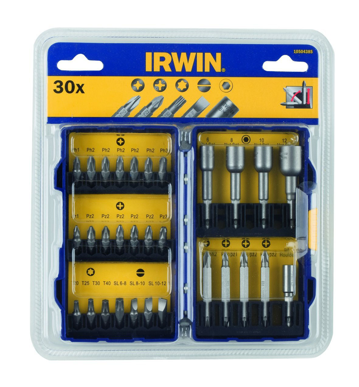 IRWIN 10504385 - Pro-Screwdriver Bit Set 30 Pieces