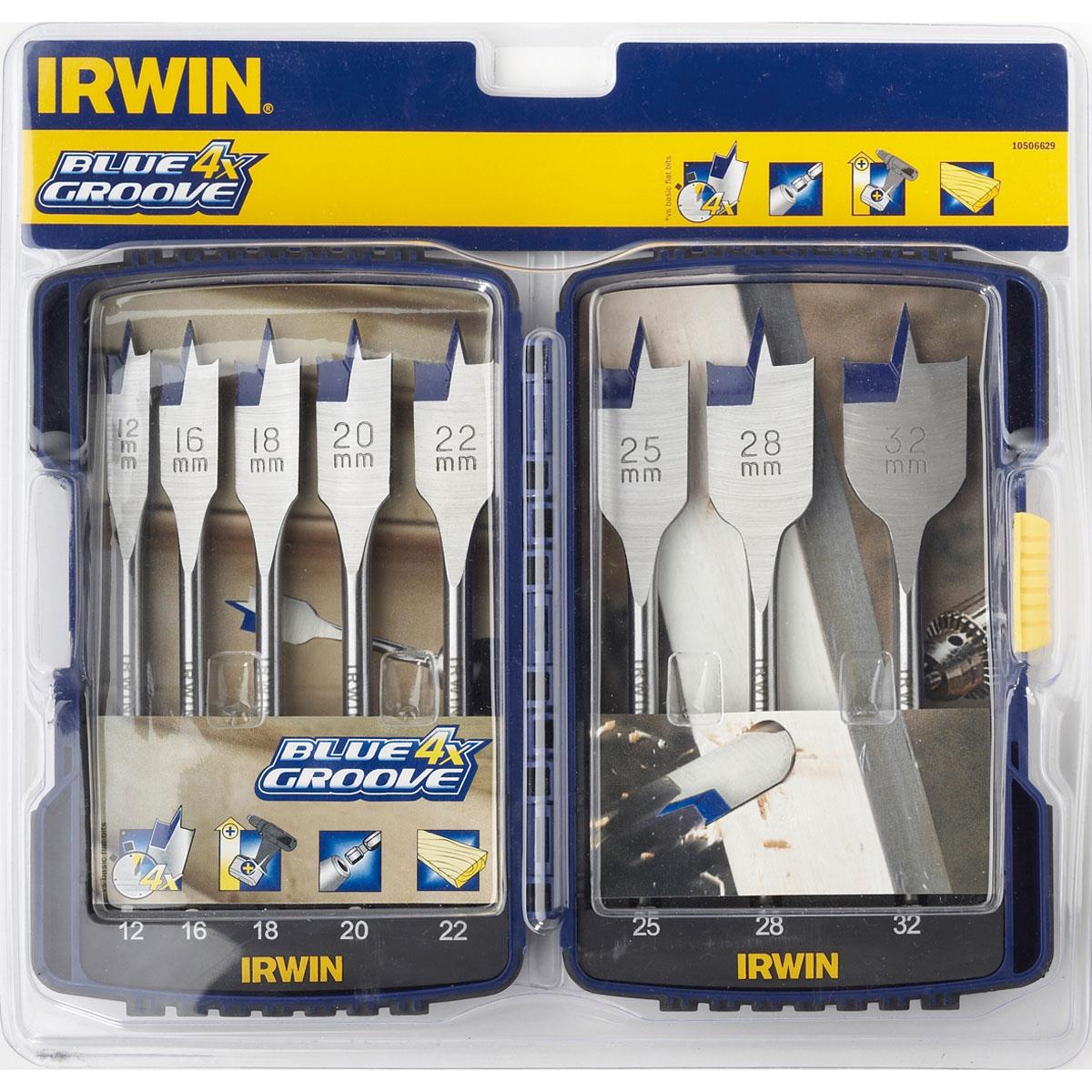 IRWIN 10506629 - Flat Drill Bit Set; 8Pcs