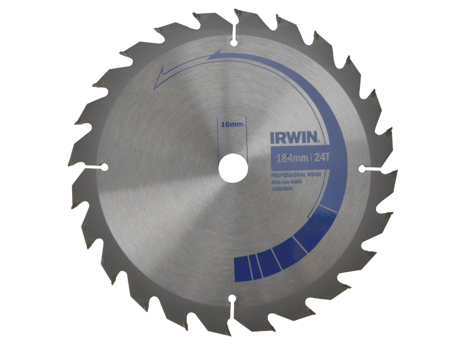IRWIN 1907699 - Professional Wood Circular Saw Blade; 184x24Tx16mm
