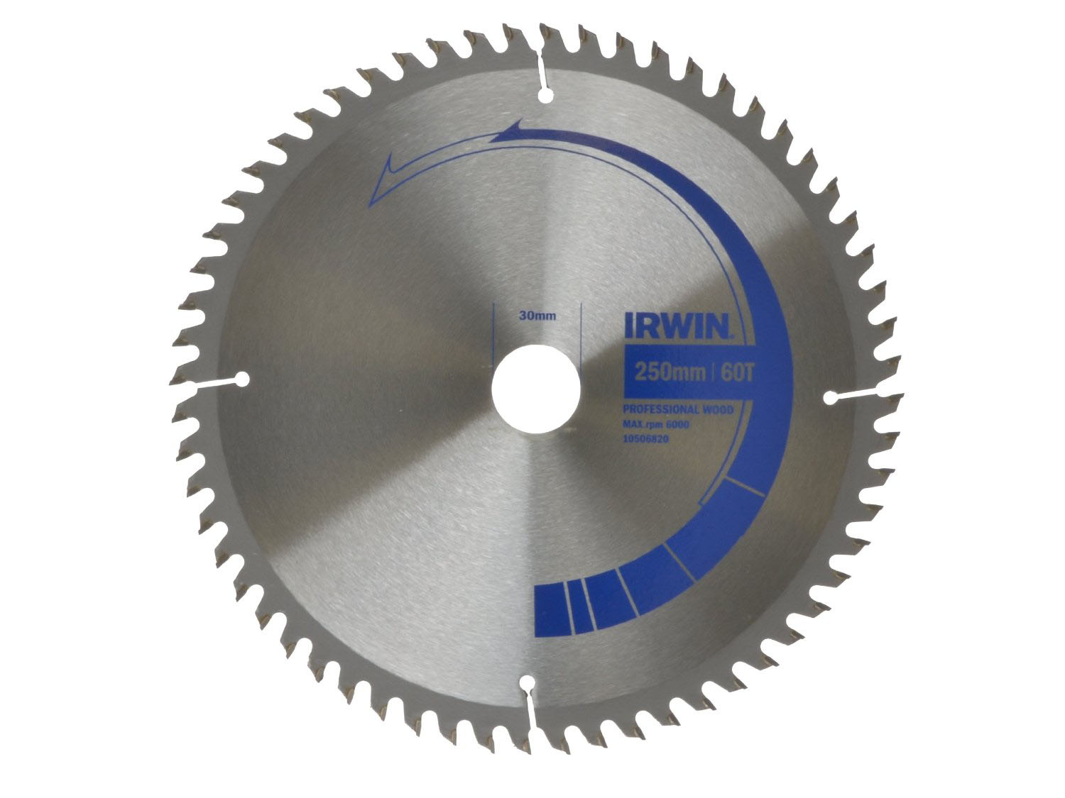 IRWIN 10506821 - Professional Wood Circular Saw Blade; 250x80Tx30mm