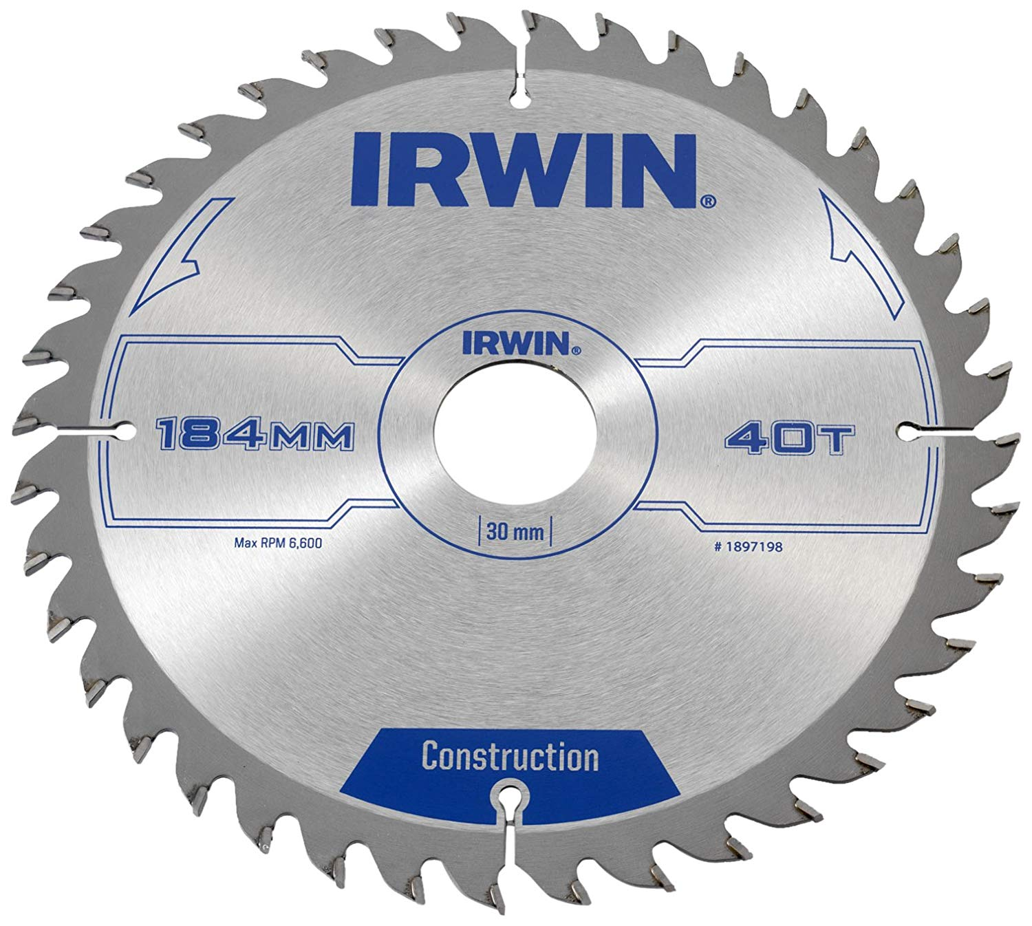 IRWIN 1897198 - Professional Wood Circular Saw Blades 7in / 184 x 40T x 30 mm