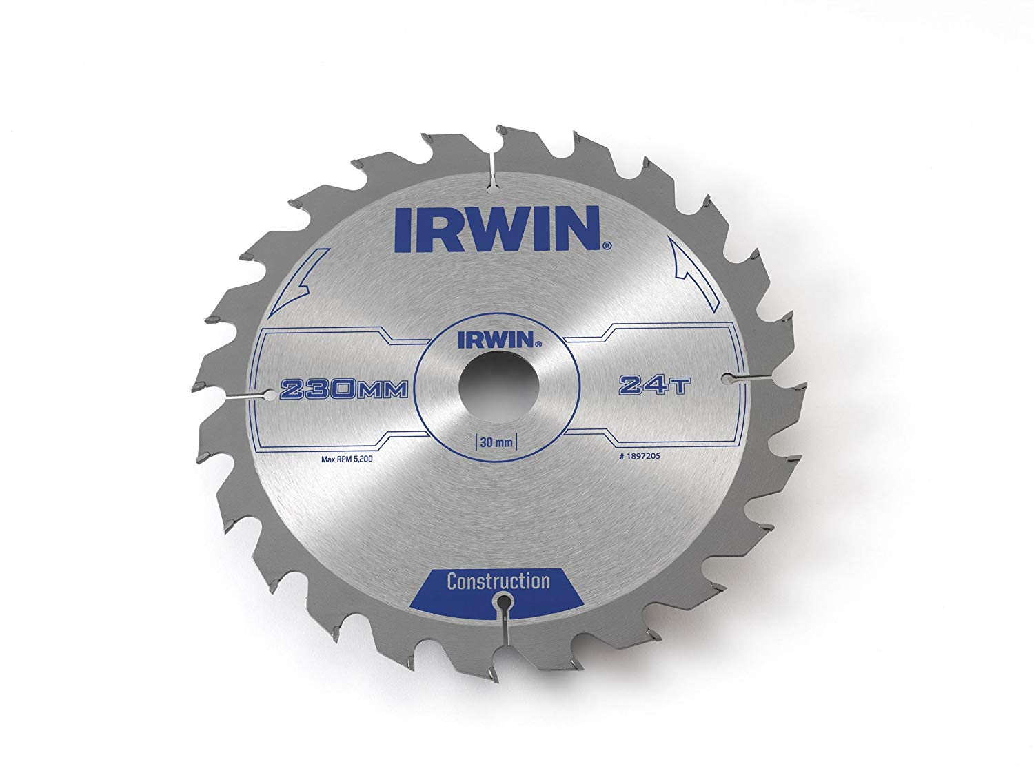 IRWIN 1907699 Construction Circular Saw Blade 184 x 16mm x 24T ATB