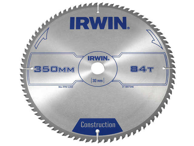 IRWIN 1897346 - Professional Wood Circular Saw Blade; 350x84Tx30mm
