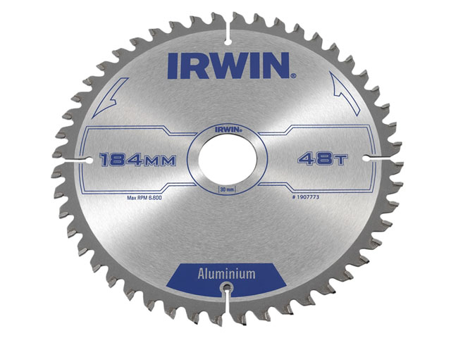 IRWIN 1907773 - Professional Aluminium Circular Saw Blade; 184x48Tx30mm