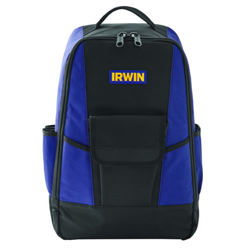 IRWIN 2017832 - Foundation Backpack380 x 165 x 485 mm, 600 denier water-resistant, rubber feet,