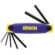 IRWIN T10765 - Folding Hex Key;  2.0-8mm; 7Pcs