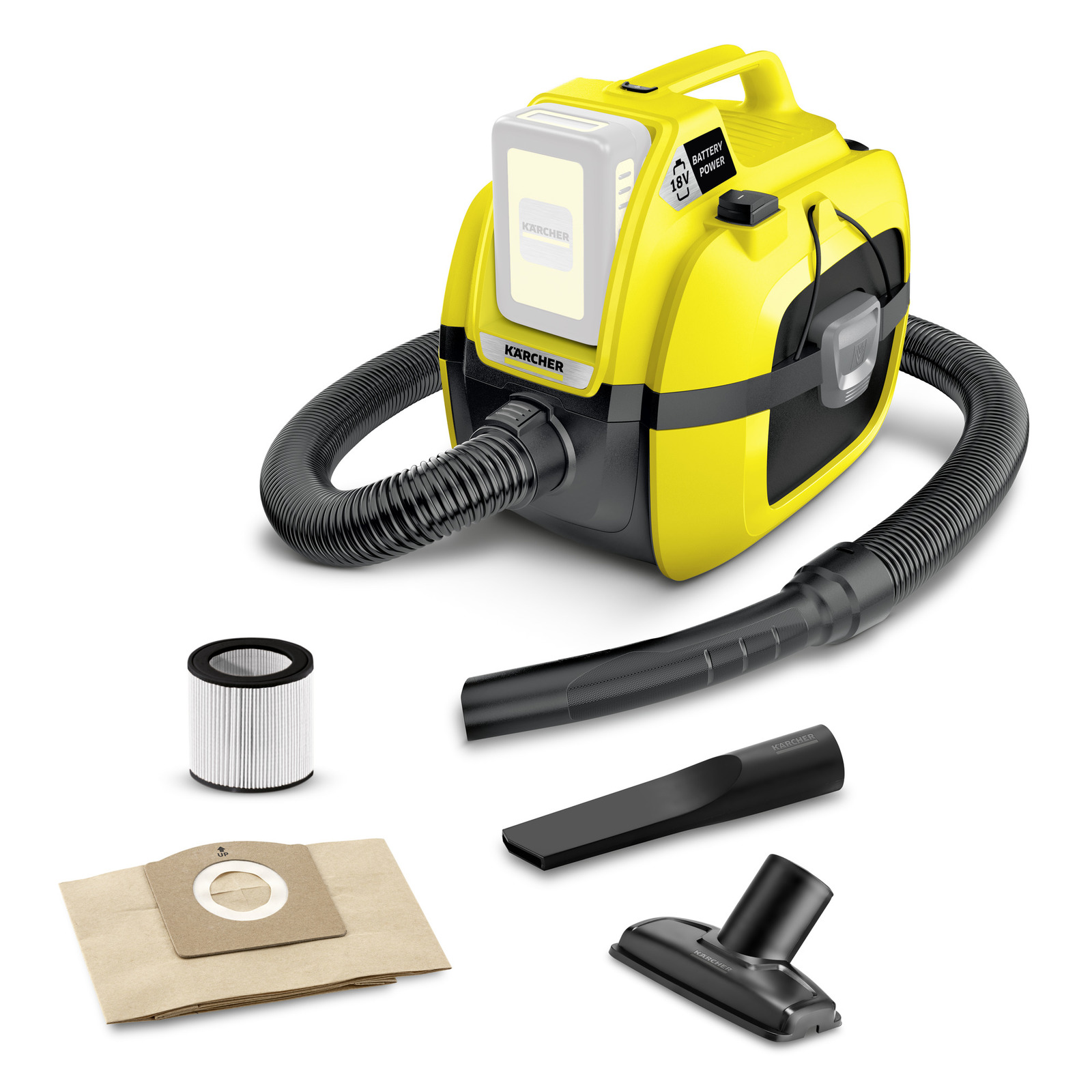 KARCHER 1.198-300.0 - WD1 Compact Battery Multi-Purpose Vacuum Cleaner