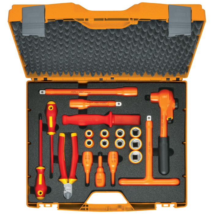Klauke KL1300IS12B20 - Fully insulated tool set – 1/2″, 20piece