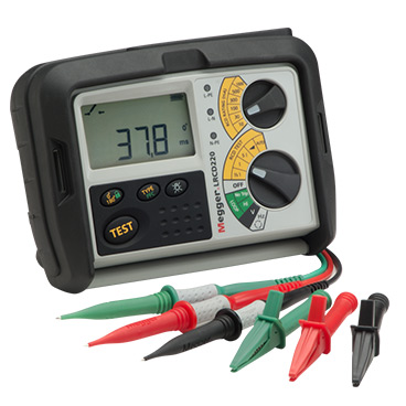 MEGGER LRCD220 - Combined Loop And RCD Testers – with the addition of 2 wire fast testing, plus phase to phase and phase to earth measurement