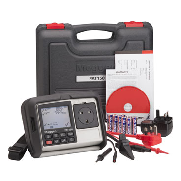 MEGGER_PAT150R_Appliance Tester with RCD - Handheld Portable Appliance Testers with RCD – Rechargeable