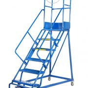 GAZELLE G7012 - 12 Step Mobile Step Ladder W/ Hand rail