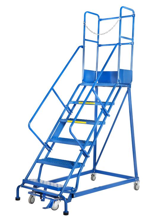 GAZELLE G7014 - 14 Step Mobile Step Ladder W/ Hand rail