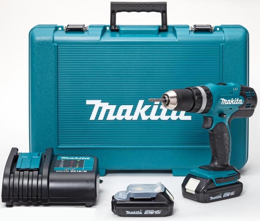 Makita_DHP453SYE_CORDLESS HAMMER DRIVER DRILL – 18 V - Cordless Hammer Driver Drill – 18 V Li-ion, (13 mm)
