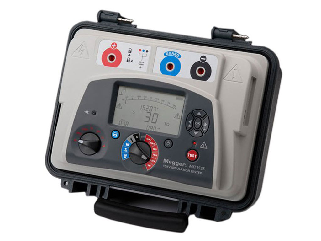 MEGGER MIT1525 - 15 KV DIAGNOSTIC INSULATION RESISTANCE TESTER