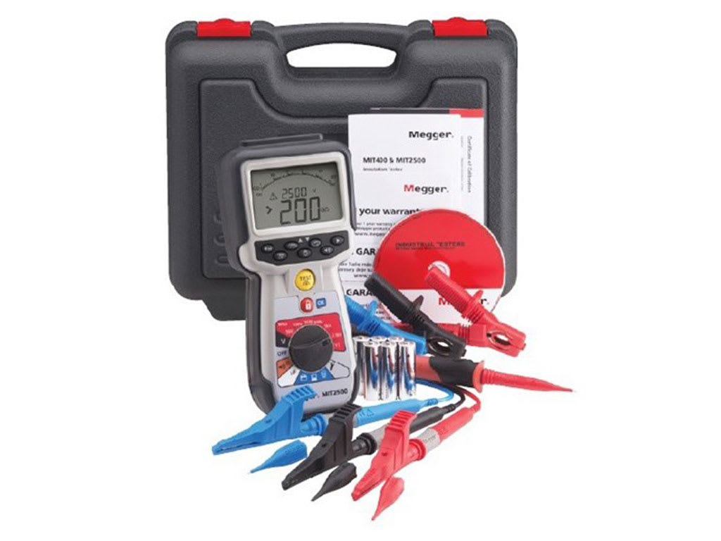 Megger_MIT2500_Insulation Testers - 2.5 kV  and 200 GΩ range in a hand held instrument 50 V to 2500 V