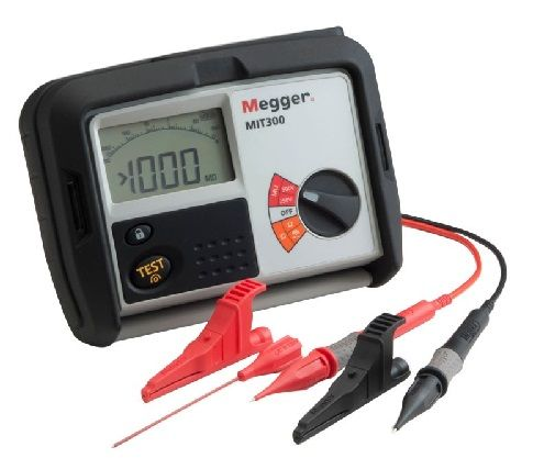 MEGGER MIT300 - 500V insulation and continuity testers