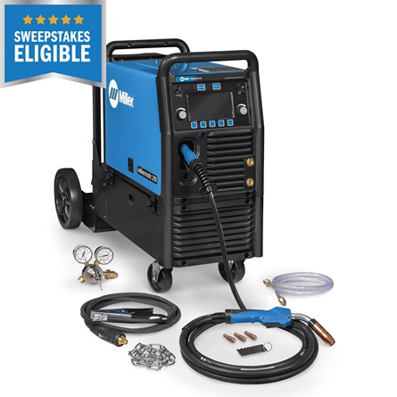 Miller MATIC 255 - MIG/Pulsed MIG Welder w/ EZ-Latch™ Running Gear- 208/240V