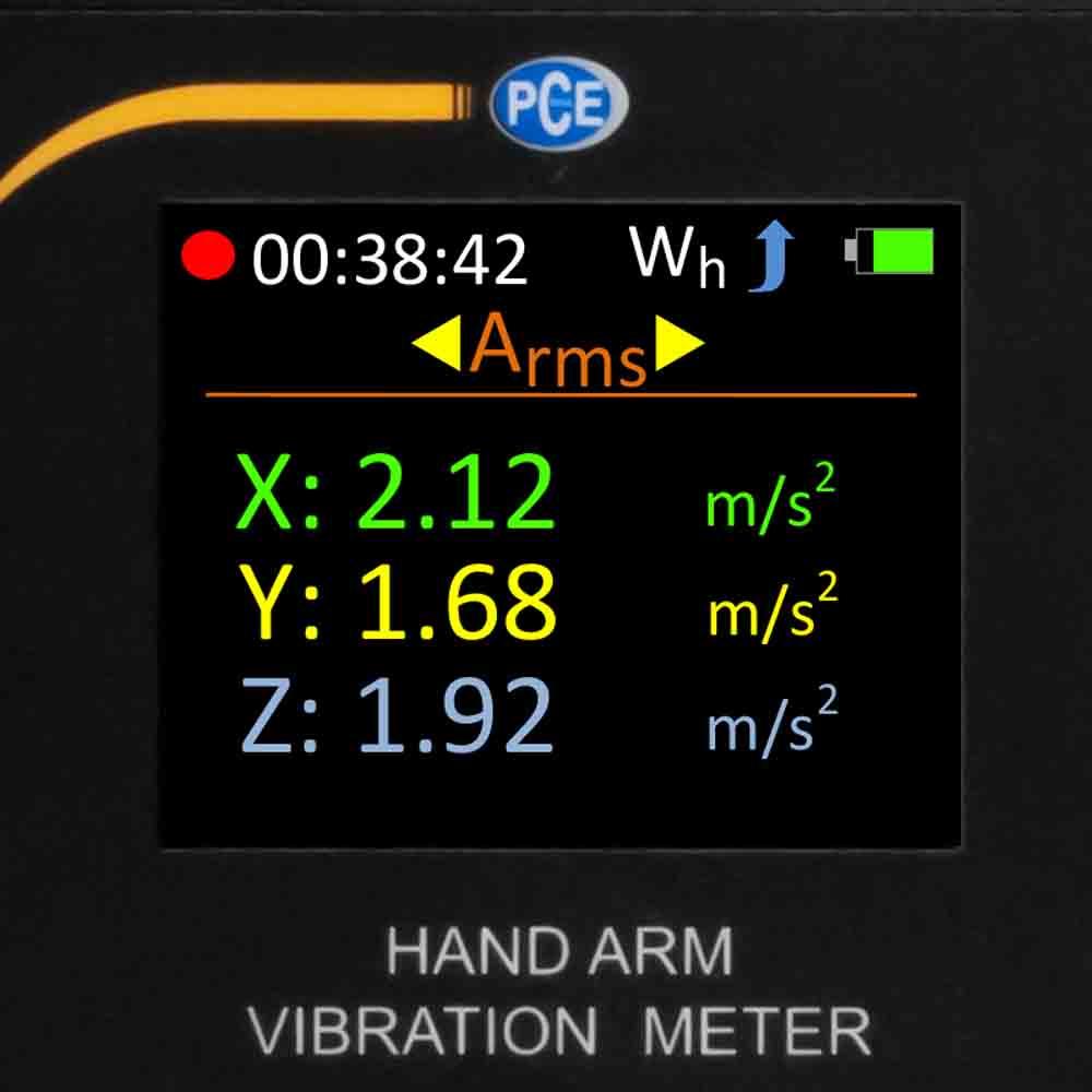 PCE_Accelerometer Vibration Meter_HAV 100_2 - Accelerometer / Vibration Meter with Software