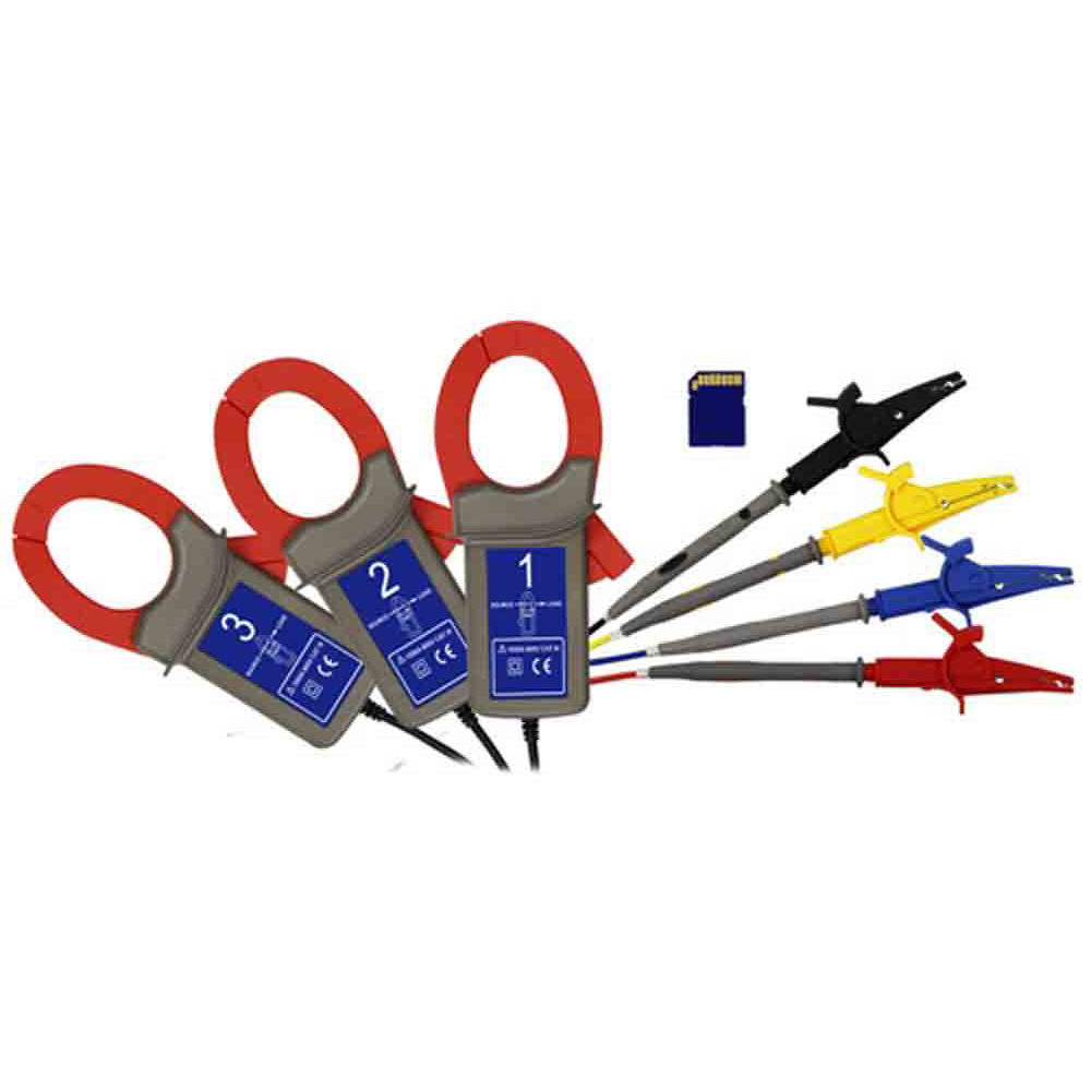 PCE_Clamp Meter_PA 8000_2 - Three-Phase Power Analyzer with 3 Current Clamp