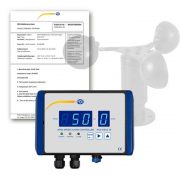 PCE Instruments WSAC 50-220 - Air Flow Meter / Wind Warning Device