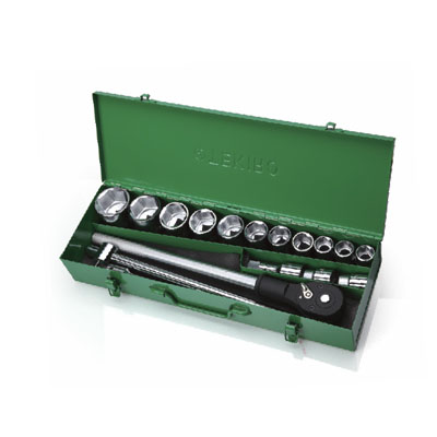 SK-TE6H18S-12 - 3/4″ Dr Socket Set 18 Pcs 12 pt 19-50mm