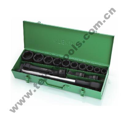 TEKIRO SK-TE6I17S - 3/4″ Dr Impact Socket Set 17pcs 20-50mm