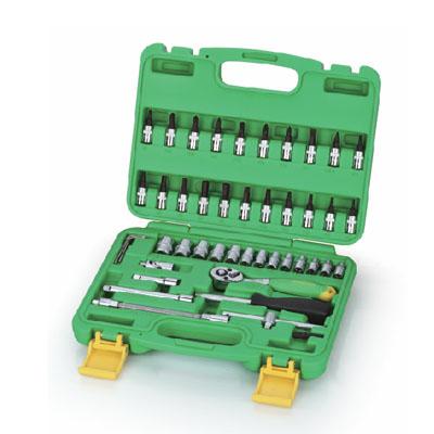 EXPERT SK-TS46 - Multi-Drive Socket Sets/Hand Socket Set 46 Pcs; 1/4″