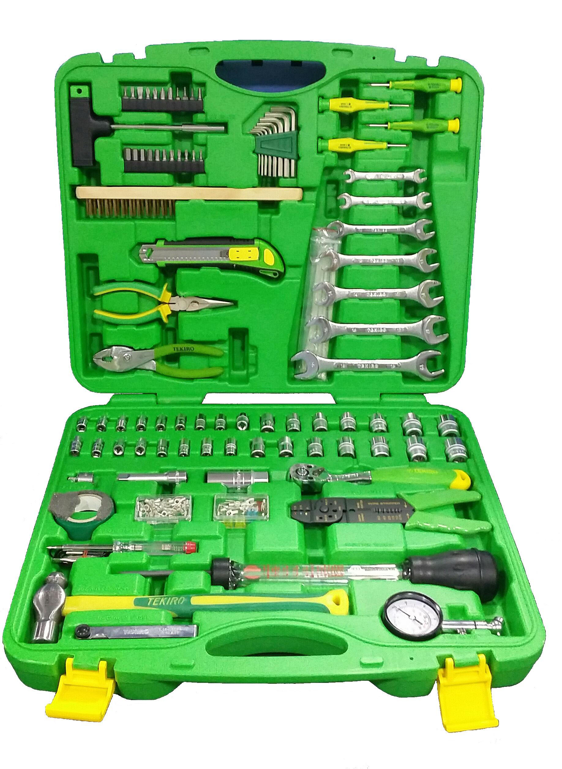 EXPERT TK-130MT - Mechanics Tool Set  Combination of 1/4″ – 3/8″ 130pcs
