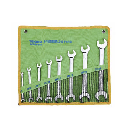 TEKIRO W-B08SM - Box End Wrench Set; 8pcs – 6×7 to 22×24