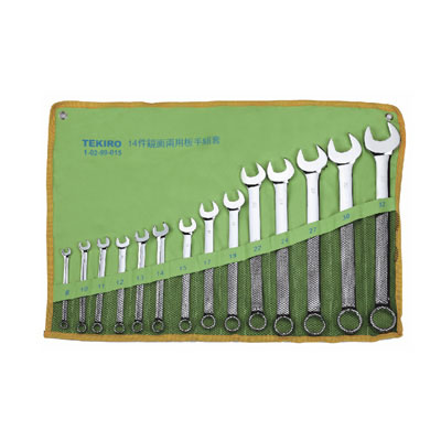 TEKIRO W-C14SA - Combination Wrench Set 14 Pcs 3/8″ to1/4″