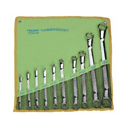 TEKIRO W-MEC10SM - Long Comb. Wrench Set 10 Pcs 10 to 19mm