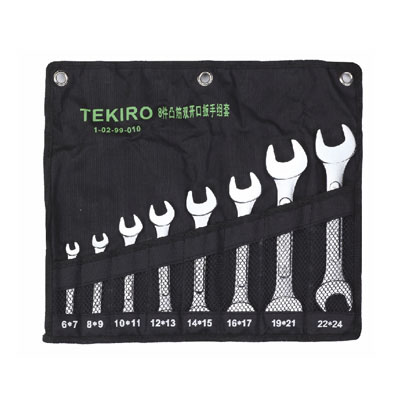 TEKIRO W-O08SA - Open End Wrench Set; 8 Pcs – 1/4-1.1/4″