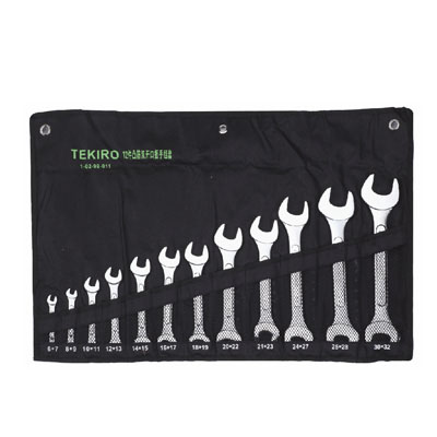 TEKIRO W-O12SM - Open End Wrench Set 6-32MM 12PC