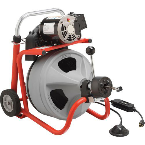 RIDGID 26993 - K-400 Drum Drain Cleaner w/cable 1-1/2 – 4in 110