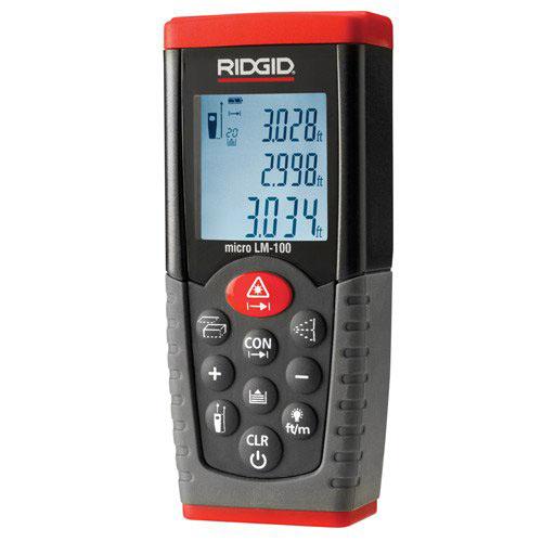 RIDGID 36158 - LM-100 Laser Distance Meter Range: 50m/164ft