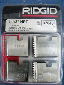 RIDGID 37845 - Pipe Die Set Npt -1-1/2inch