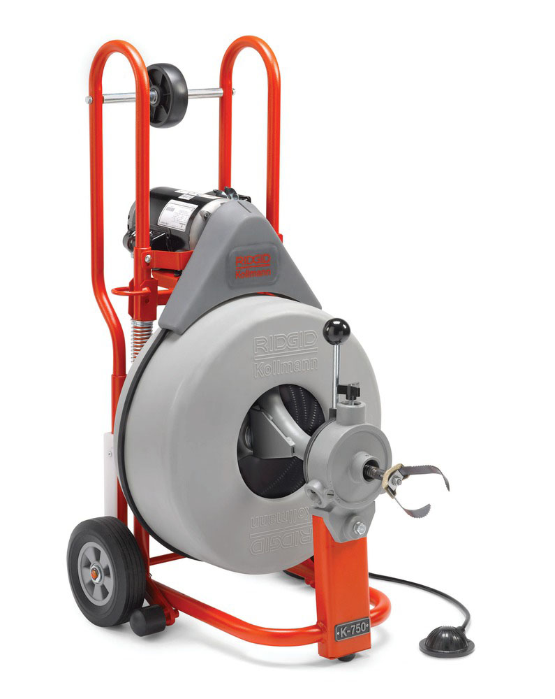 RIDGID 44212-K750 - K-750 Drum Drain Cleaner w/cable 3 – 10 in 220v