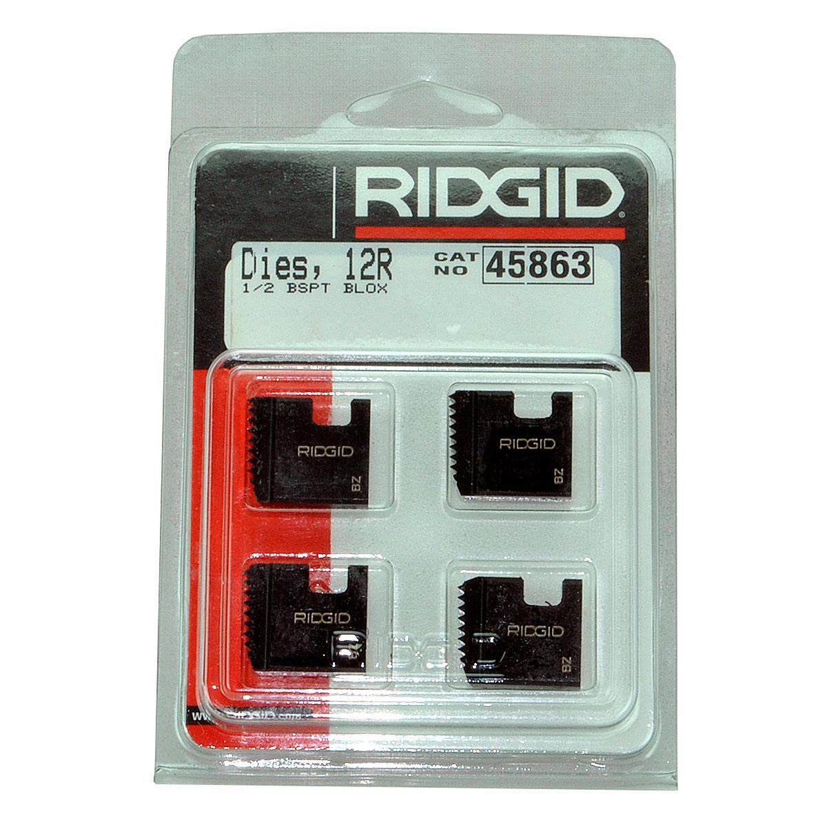 RIDGID 45863 - Pipe Die Set Bspt – 1/2inch