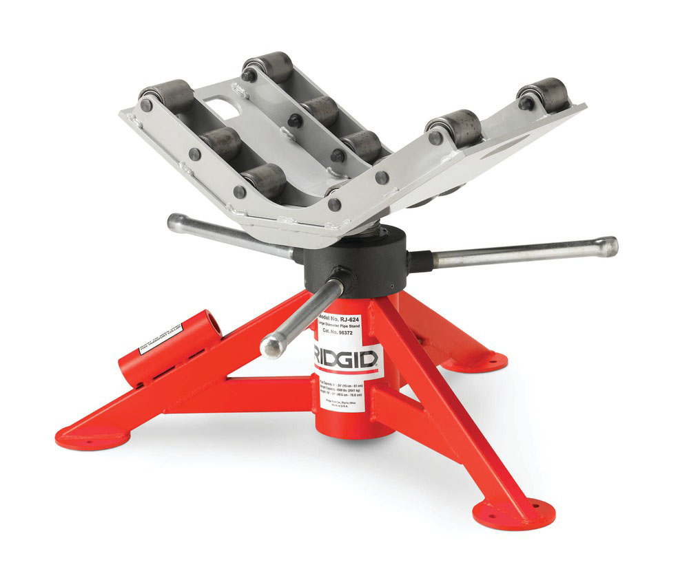 RIDGID 96372 - RJ-624 Roller Pipe Stand for Large Pipes Max Pipe