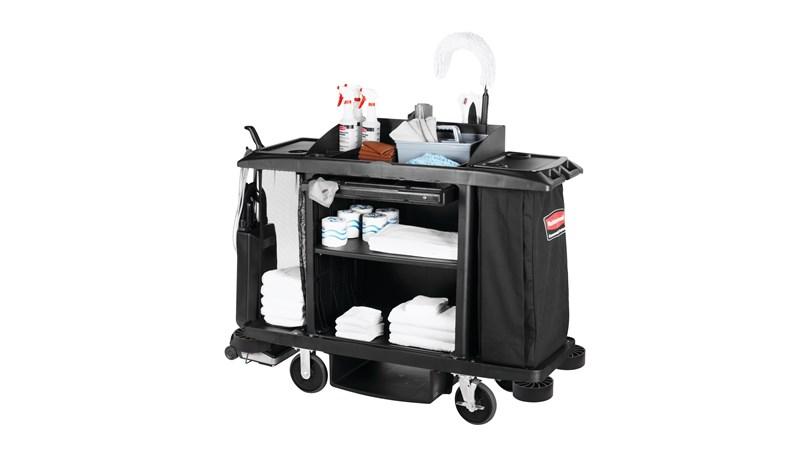 RUBBERMAID FG618900BLA - Standard Housekeeping Cart – 152.4 X 55.9 X 127cm
