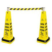 RUBBERMAID FG628700YEL - Portable Barricade Caution Safety Cone